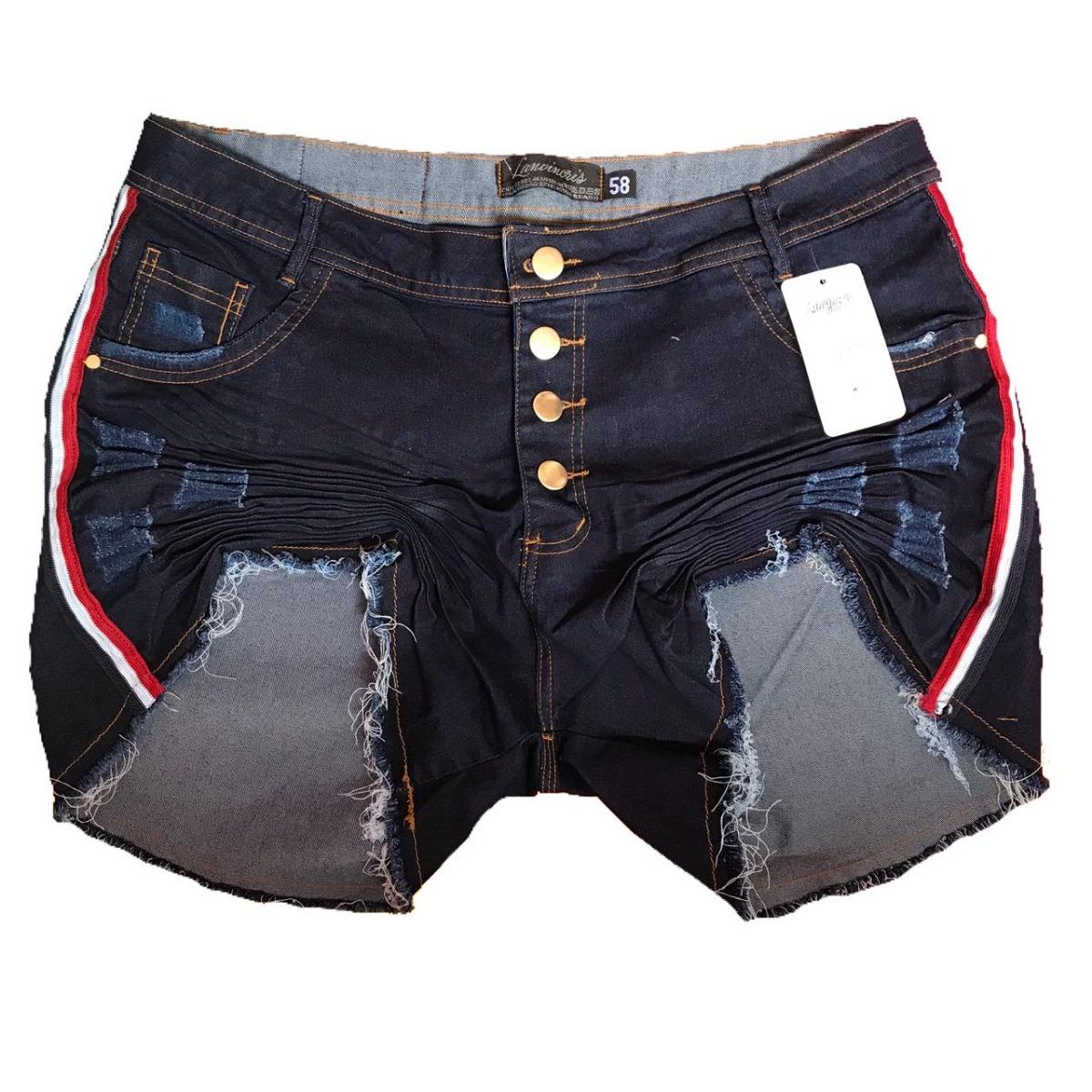 4fa821b31a10 roupas feminina short jeans plus size com listras laterais. Carregando zoom.