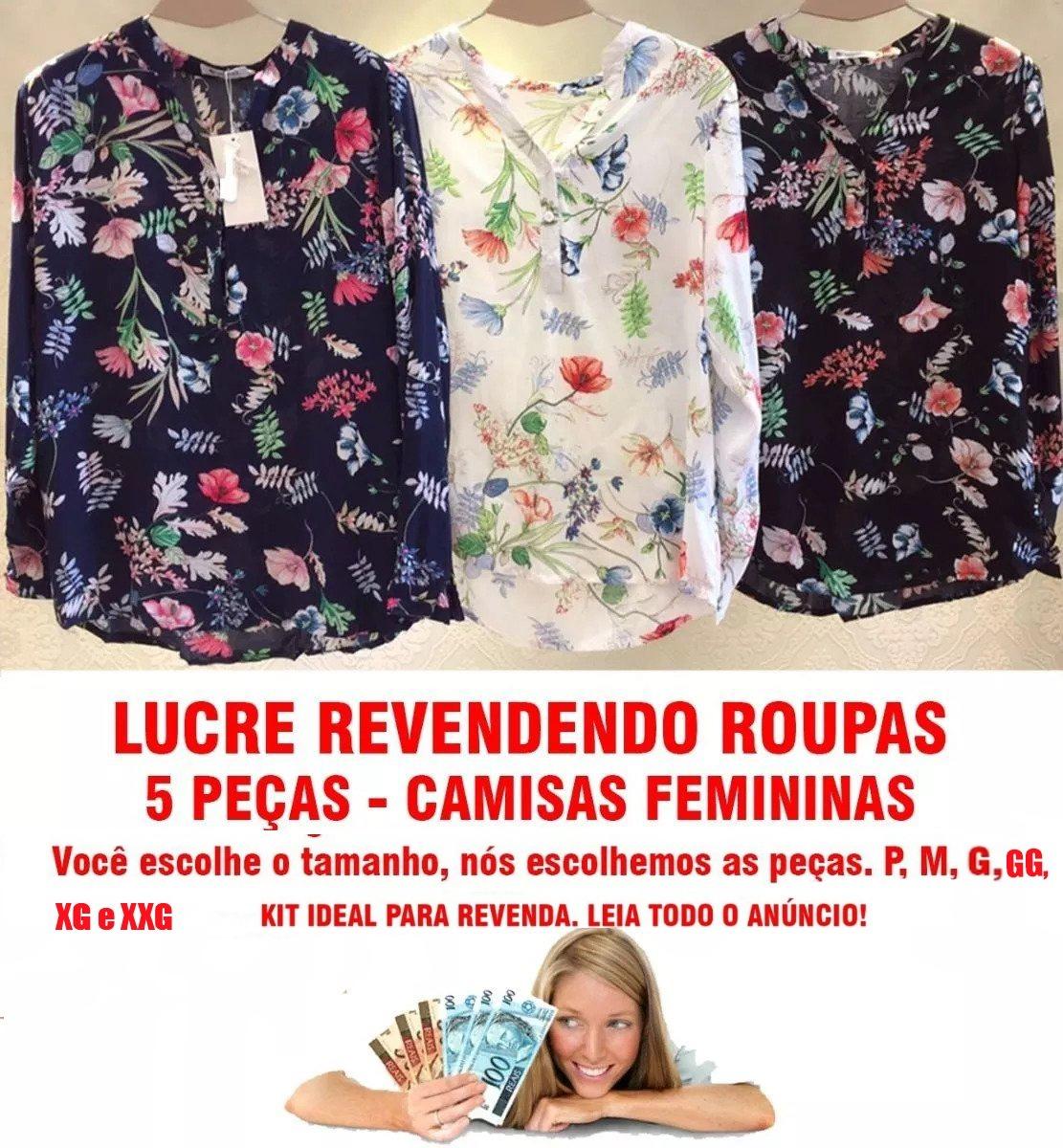 6f361a658 Roupas Femininas Atacado Revenda Atacado Blusa Kit 5 Pça 535 - R ...