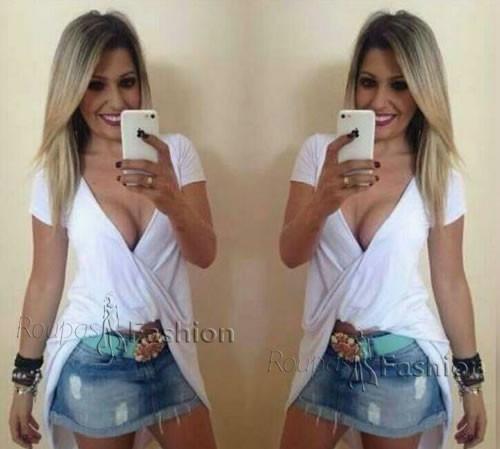 Roupas Femininas Barata Para Revenda Atacado Blusa Kit 6pça - R  249 ... 043580281f7