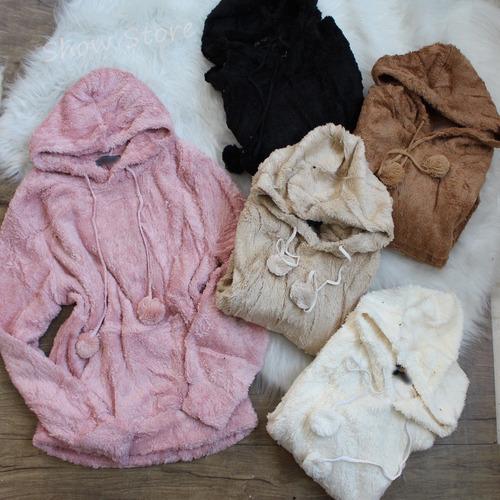 roupas femininas blusa frio pelinho peluciada moleton  2571