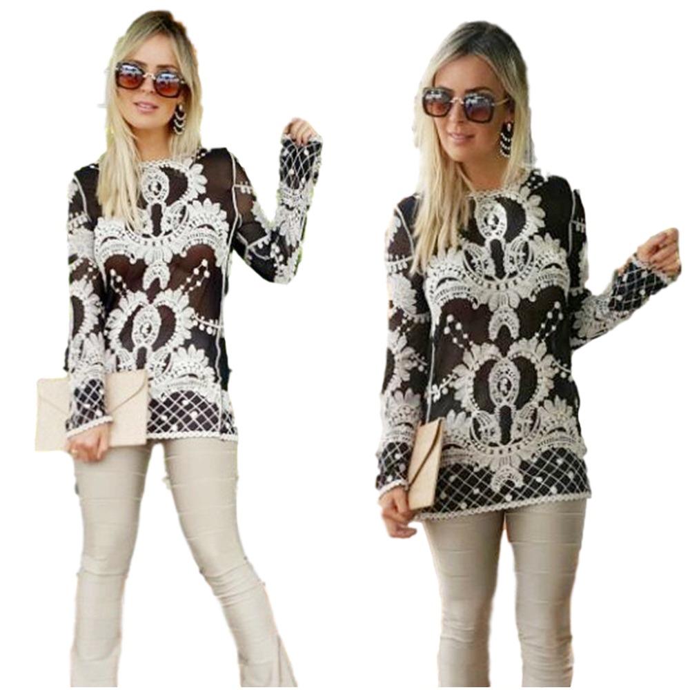 ab204b4681ba2 roupas femininas blusas batas renda guipir transparência 741. Carregando  zoom.