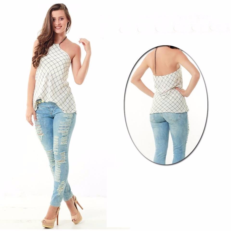669a6dd63 Roupas Femininas / Calça Jeans Detonada Destroyed Handara - R$ 169,90 em  Mercado Livre
