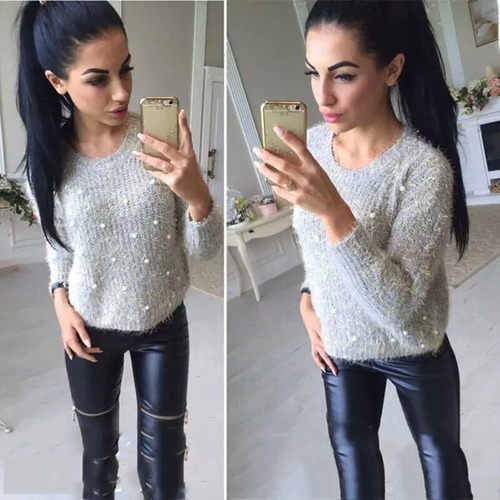 roupas femininas casacos femininos blusa suéter inverno 2537