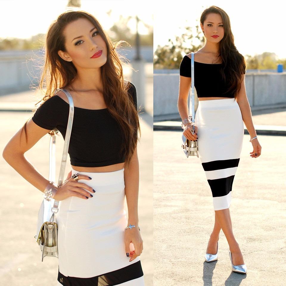 d3a5dc173 roupas femininas conjunto cropped e saia social midi luxo. Carregando zoom.