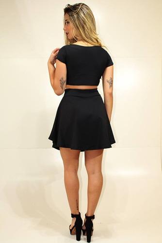 roupas femininas conjuntos cropped e saia gode moda balada