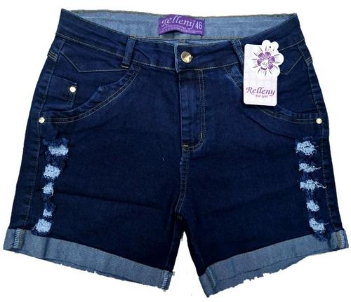 roupas femininas kit de 02 bermuda jeans plus size 36 ao 52