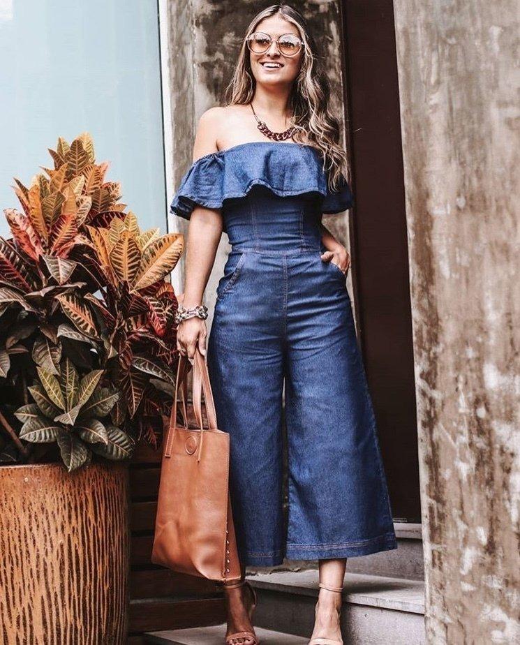 f4acaf515c roupas femininas macacão pantacourt jeans moda blogueira. Carregando zoom.