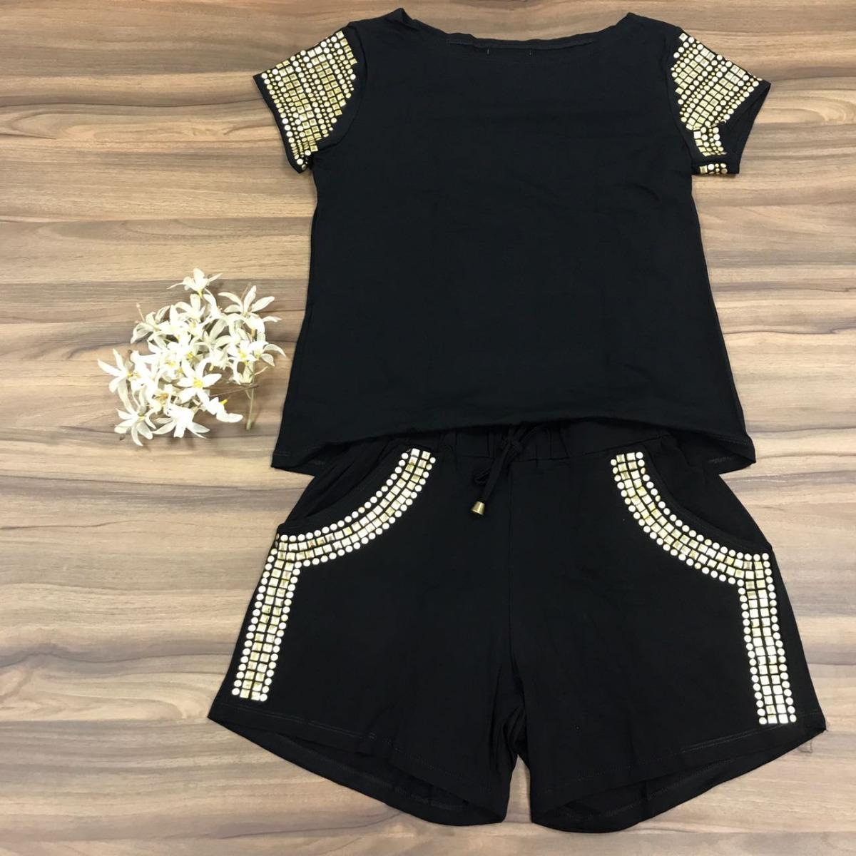 2bb55db5d7 roupas femininas moda feminina conjunto pedraria verão 2018. Carregando  zoom.
