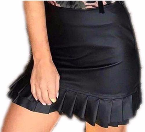 c69c42b63 Roupas Femininas Saia Sino Cirre Couro Babado Moda Blogueira - R  24 ...