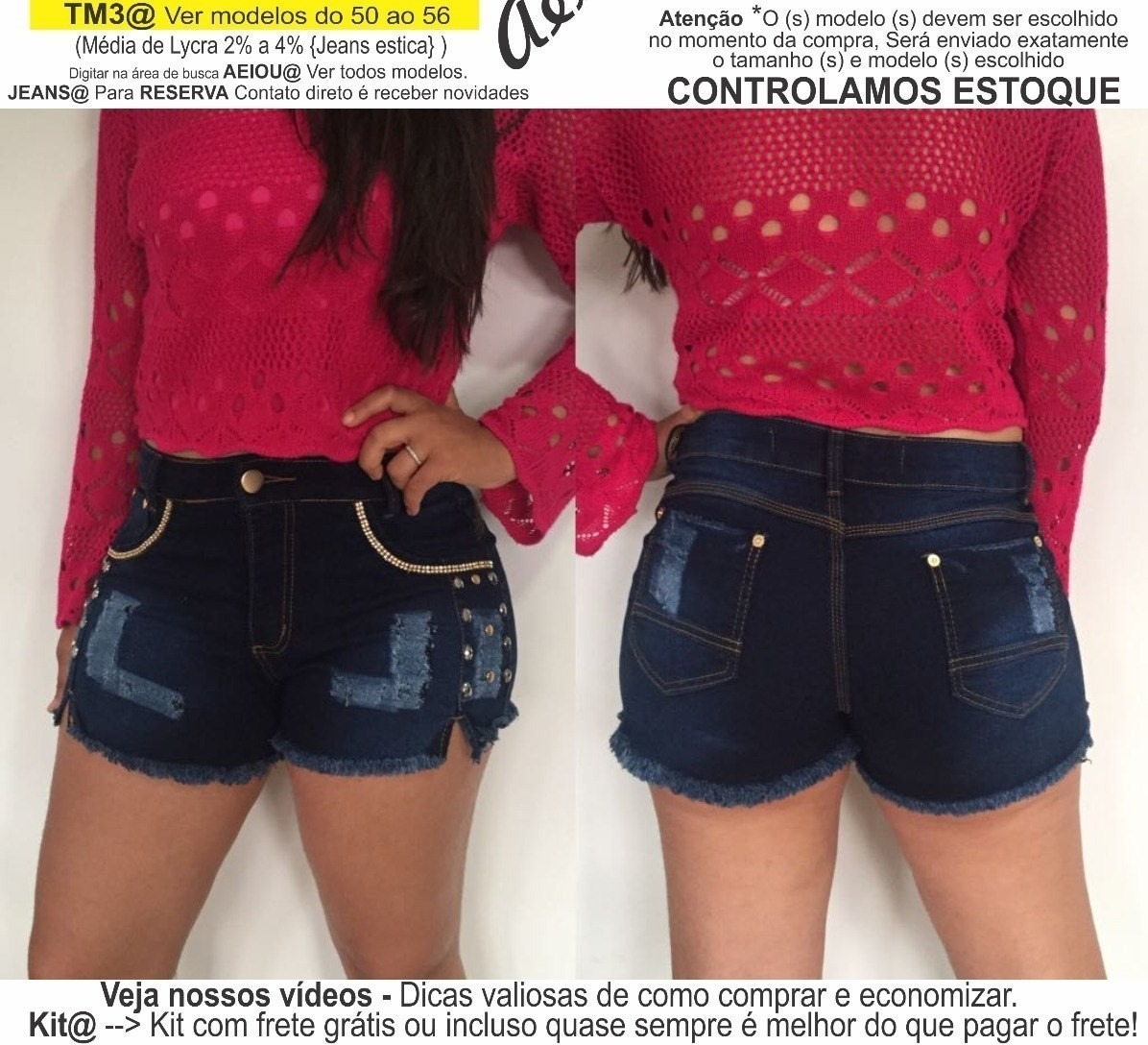 ba2d7306b3 roupas femininas short jeans lycra rasgo pedras unli  shpm11. Carregando  zoom.