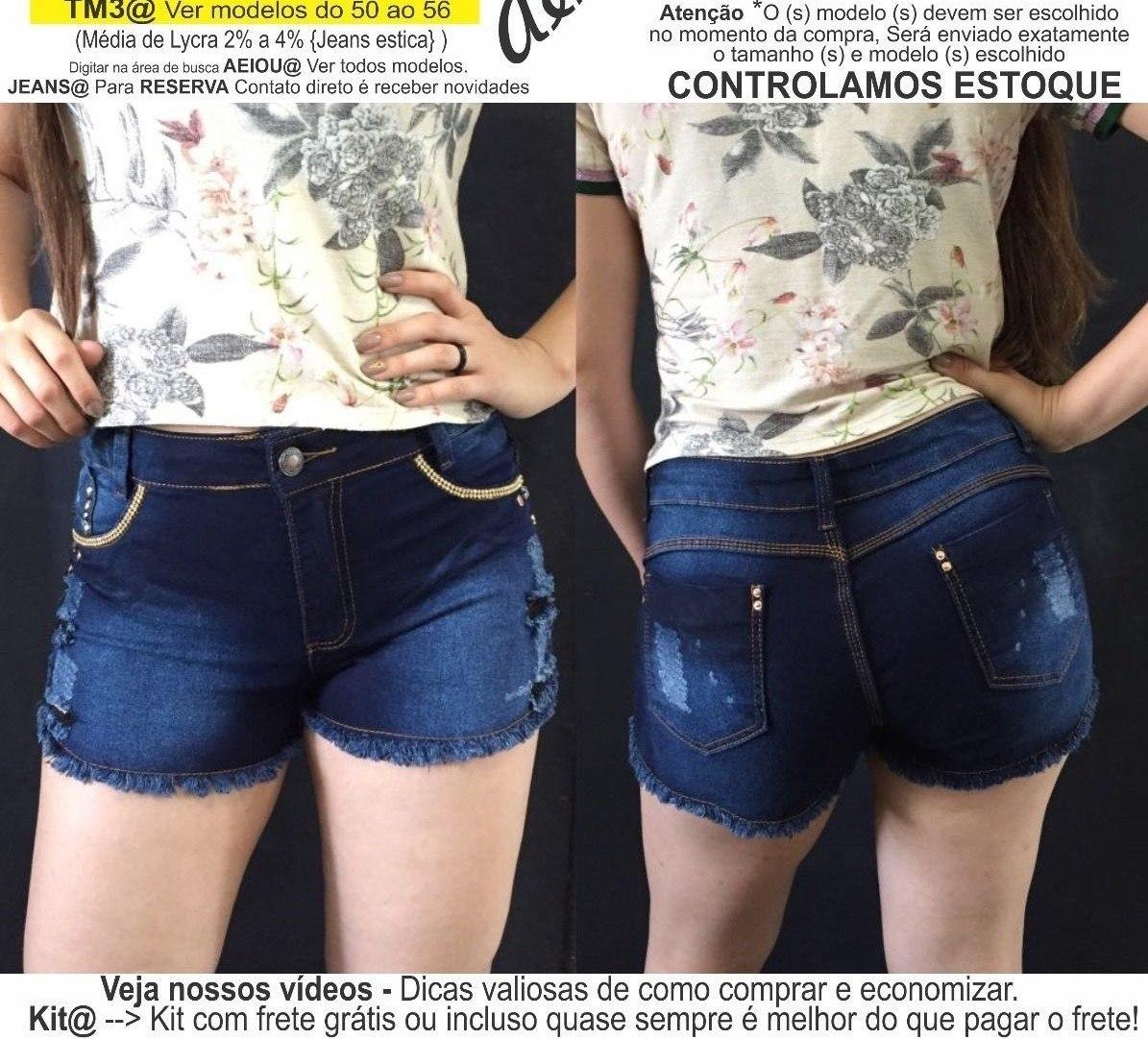 6b21a0c56d roupas femininas short jeans lycra rasgo pedras unli  shpm13. Carregando  zoom.
