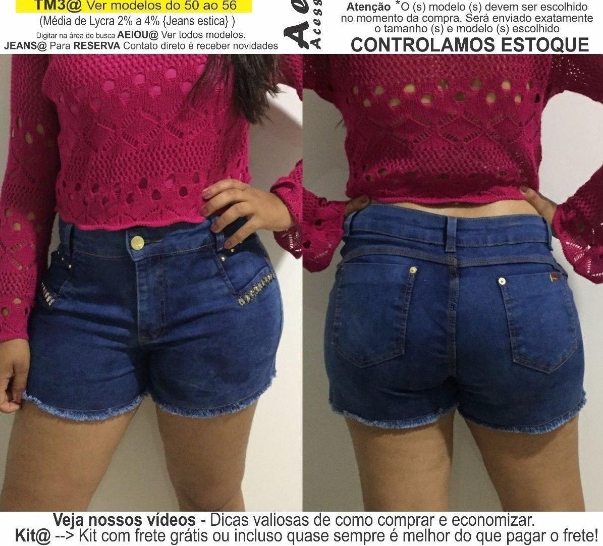 ac1cd75062 roupas femininas short jeans lycra rasgo pedras unli  shpm16. Carregando  zoom.