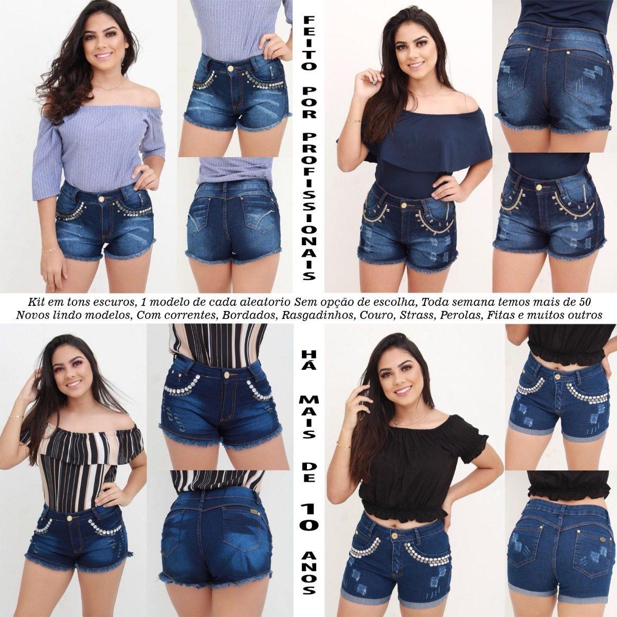 d91286c00c roupas femininas short jeans lycra rasgo pedras unli  shpm20. Carregando  zoom.