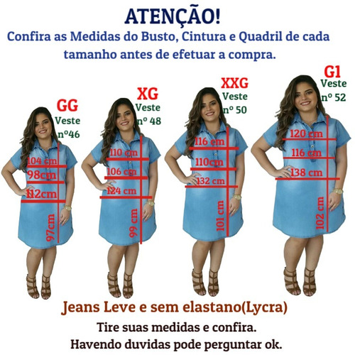 roupas femininas vestido jeans plus size moda evangélica 019