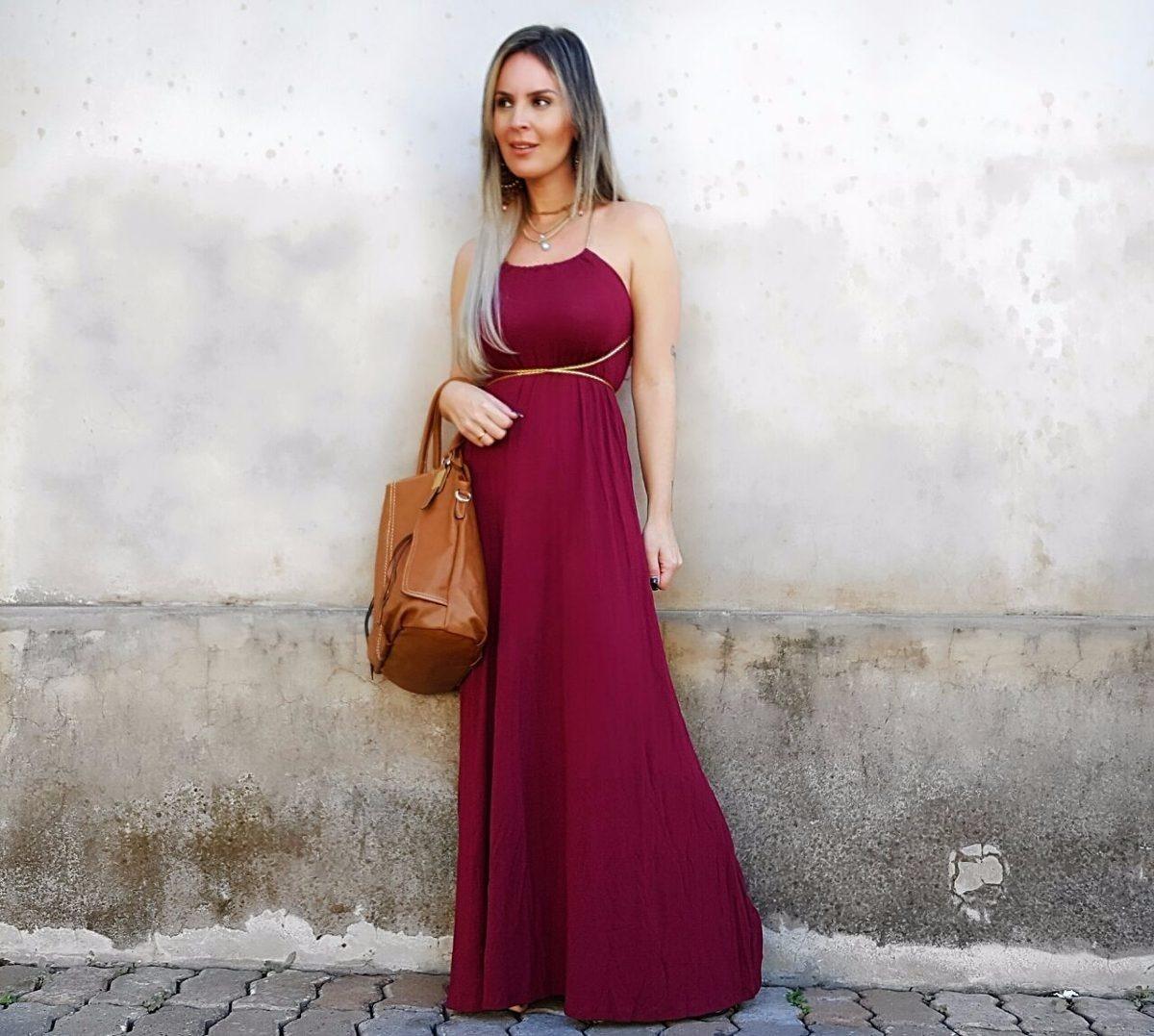 ff16375574 roupas femininas vestido longo estampado florido c  bojo 703. Carregando  zoom.