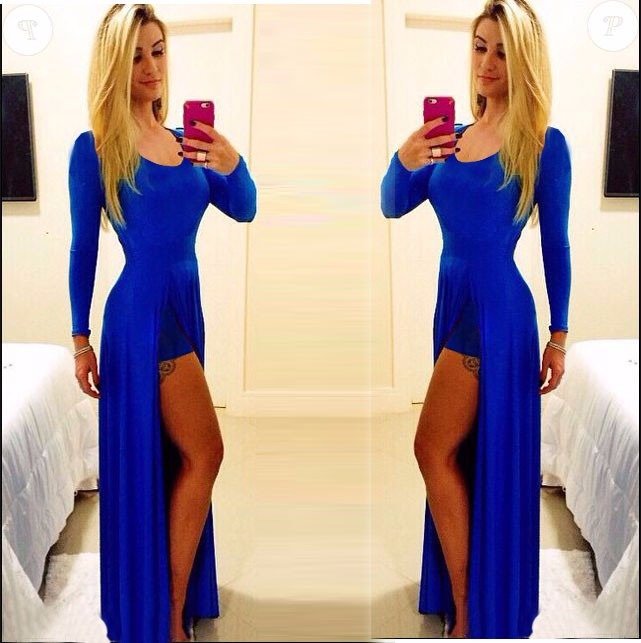 d6361ce2f3 Roupas Femininas Vestidos Longo Com Fenda Madrinha Casamento - R  85 ...