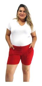 f6ee1cdf7040a7 Roupas Gestante Plus Size 3 Shorts Gravida Malha + Brinde