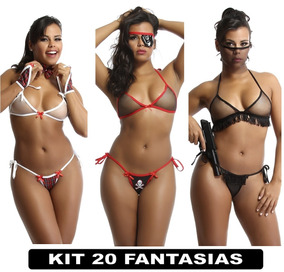 aac8ed93c Kit Sexy Com 3 Unid Lingerie Sex Roupas Intimas Kits Sexys. Rio de Janeiro  · Roupas Intimas Langerie Sex Femininas Fantasia Kit Com 20 Un