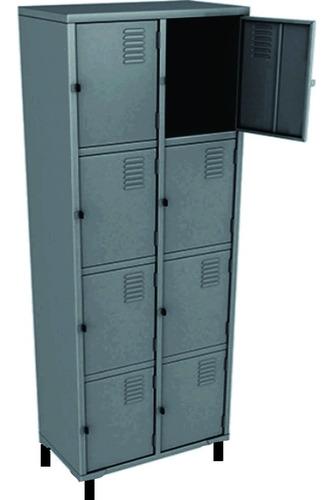 roupeiro de aço 08 portas pequena abba moveis 198x63x40