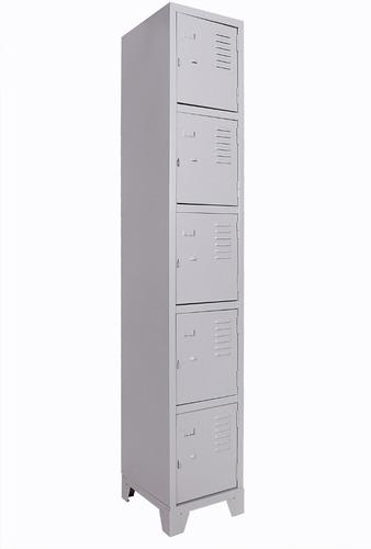 roupeiro em aço vestiario guarda volumes metal ferro 5 porta
