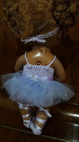roupinha baby alive de bailarina lilás com tule