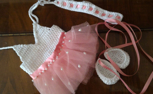 roupinha baby alive de ballet rosa e branca