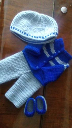 roupinha baby alive de inverno cinza e azul