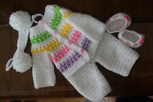 roupinha baby alive de inverno e tiara com pompons em crochê