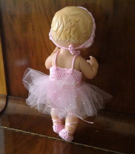 roupinha de bailarina rosa para baby alive ou semelhantes