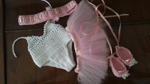 roupinha de ballet em crochê e tule p baby alive bailarina