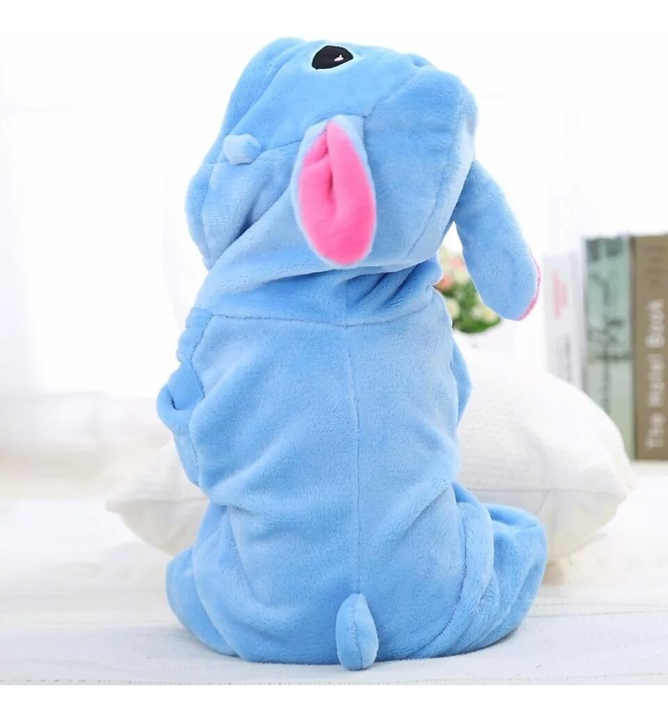 99cbbc1607f27d Roupinha De Bebê Macacão Pijama Fantasia Disney Stitch