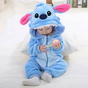 b91b59aca10a1e Roupinha De Bebê Macacão Pijama Fantasia Disney Stitch