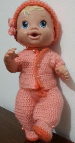 roupinha de crochet para boneca baby alive