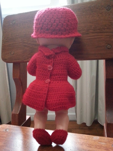 roupinha lã crochet vermelha para bonecas baby alive