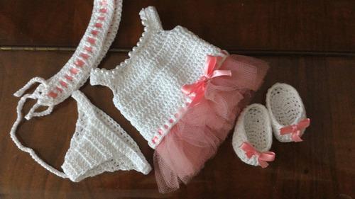 roupinha para baby alive de festa em crochê e pérolas