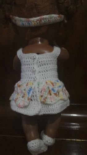roupinha para babyalive branca com casaquinho e tiara