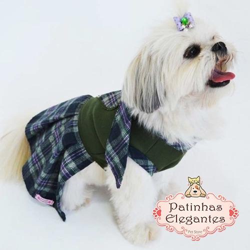 roupinha para cachorro - vestido cachecol (p) - loja
