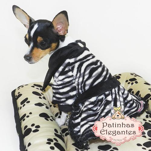 roupinha para cachorro - vestido zebra (pp) - loja