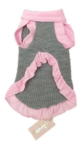 roupinha vestido tricot g cães maltês, shih tzu, lhasa apso