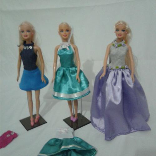 roupinhas da barbie calças vestidos saias (10 unidade)