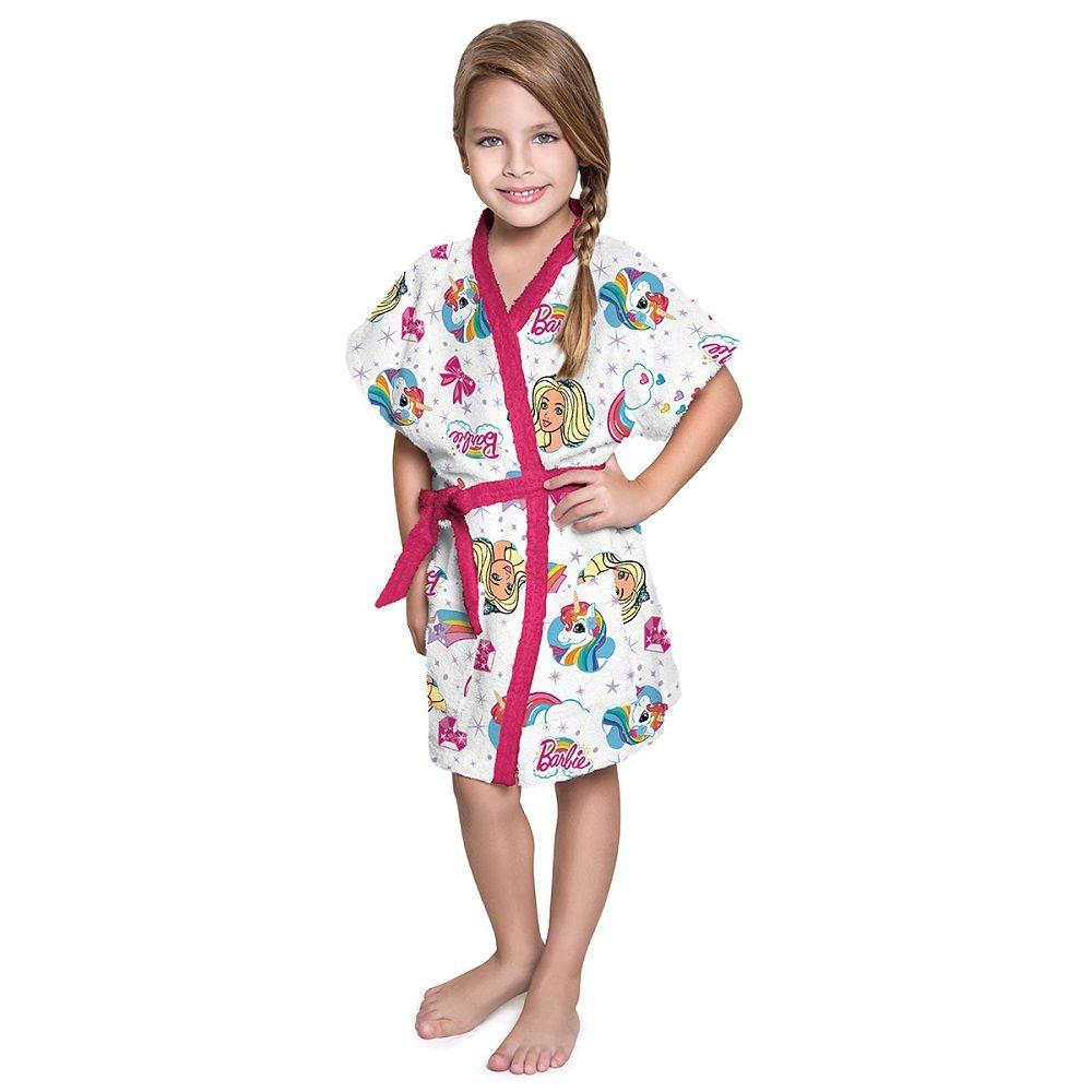 b4db91b626a58d Roupão Infantil Felpudo Barbie Tam G (12 A 14 Anos) Lepper