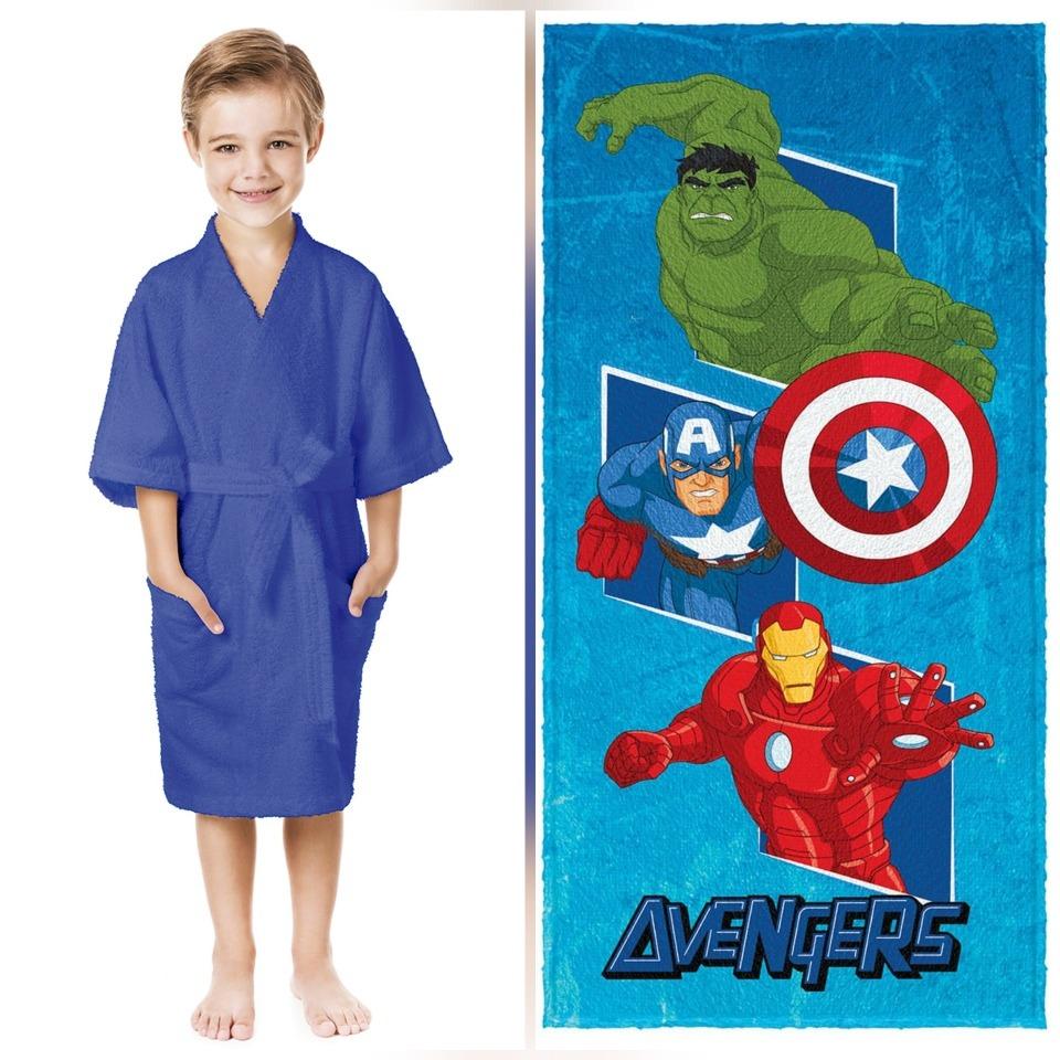 fb5619c3fd5b7f Roupão Infantil P+ Toalha De Banho Avengers Lepper Promoção
