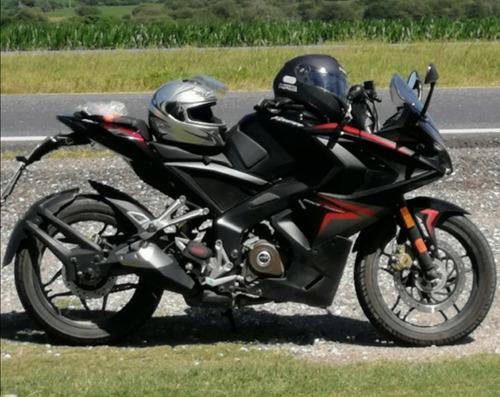 rouser 200 rs 1109 km tremenda!!! dic.2017 - rec. menor