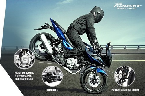 rouser 220cc - motozuni  san justo