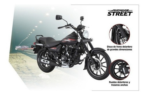 rouser avenger street 220cc - motozuni  ramos