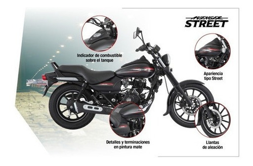 rouser avenger street 220cc - motozuni  recoleta