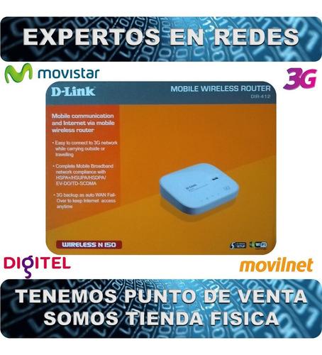 router 3g d-link dir-412 - movistar-digitel-movilnet (demo)