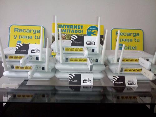 router 3g + modem usb libre + chip bitel + saldo