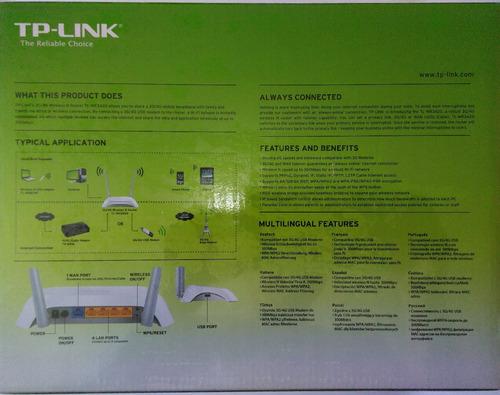 router 3g/4g tp-link mr3420 + modem usb 3g liberado