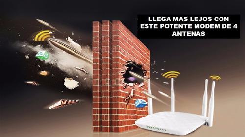 router 4 antenas alta potencia +15m de cable de red ponchado